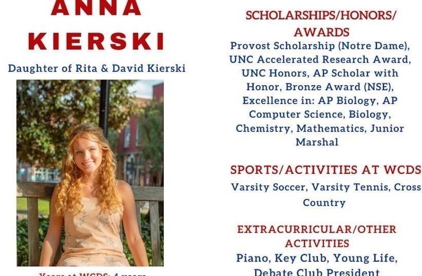 Anna Kierski Senior Profile