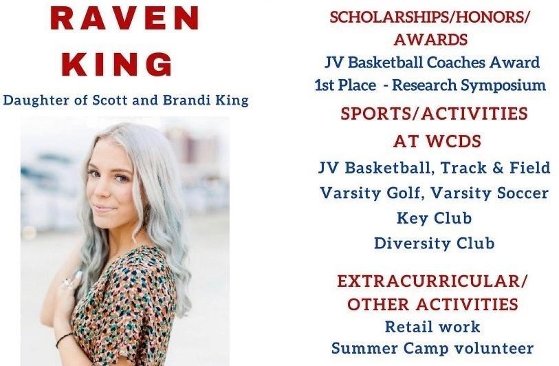 Raven King Senior Profile