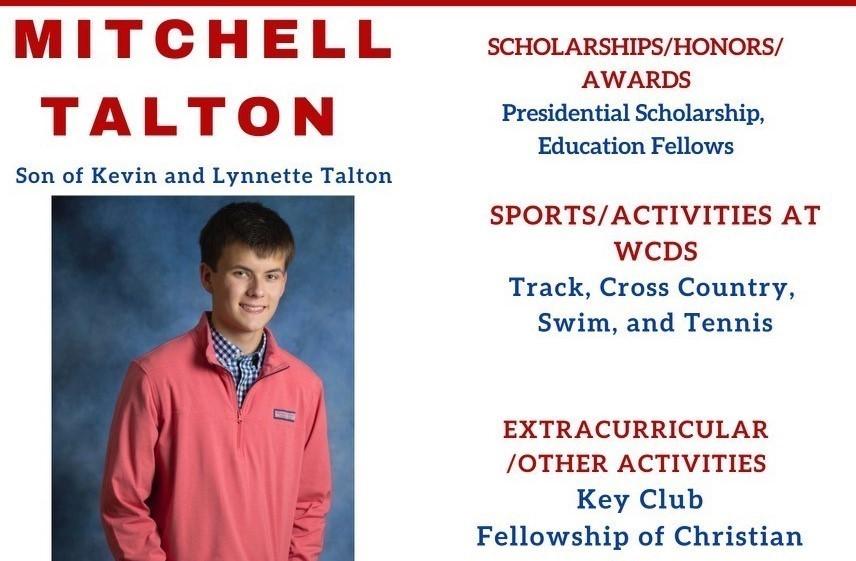 Mitchell Talton Senior Profile