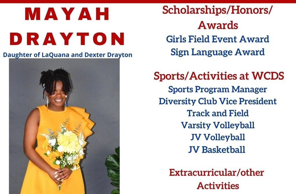 Mayah Drayton Senior Profile