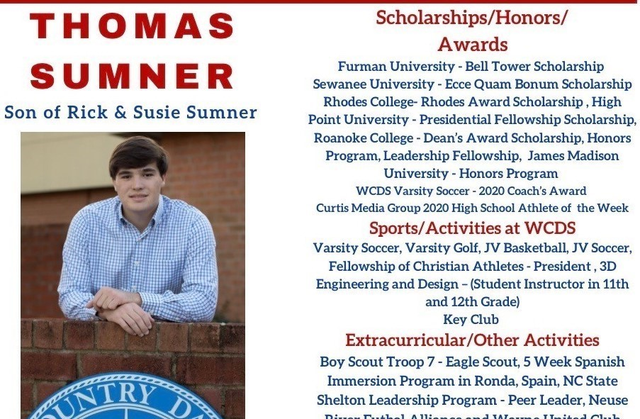 Thomas Sumner Senior Profile