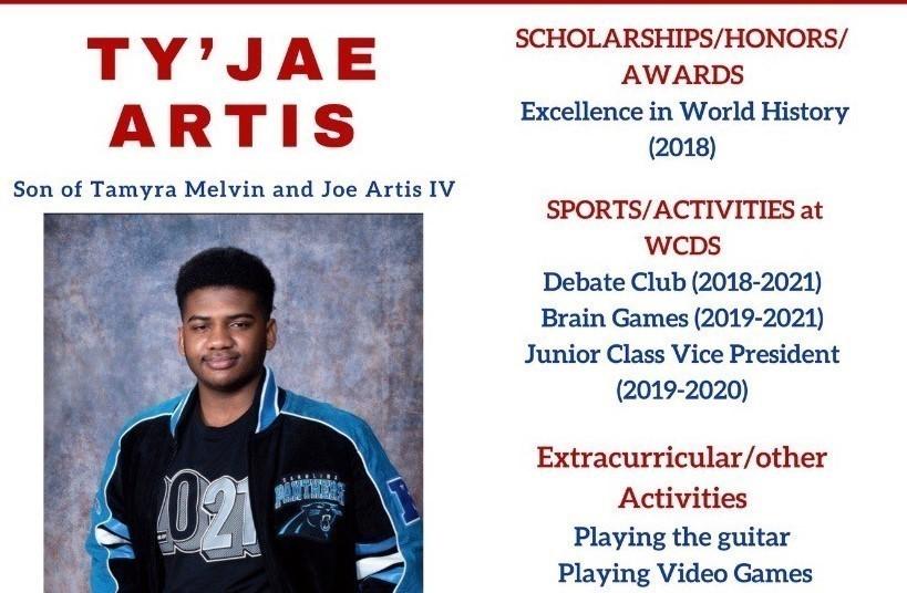 Ty'Jae Artis Senior Profile