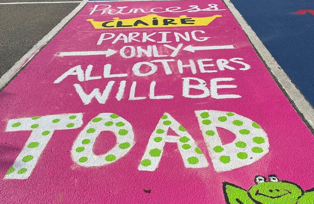 Senior Decorated Parking Space