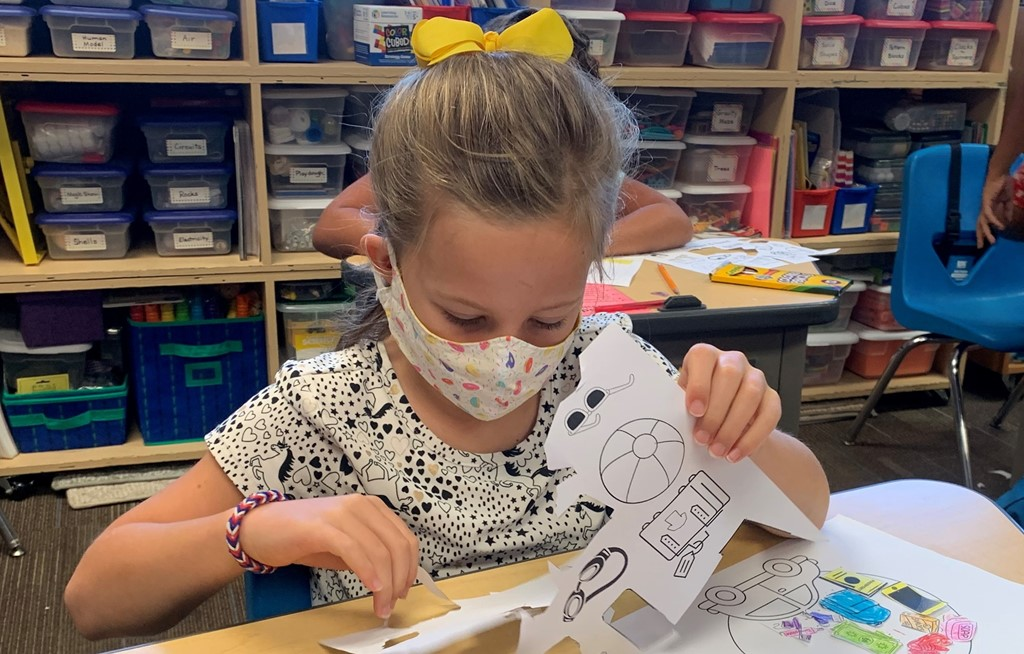 second grade cutting/pasting activity