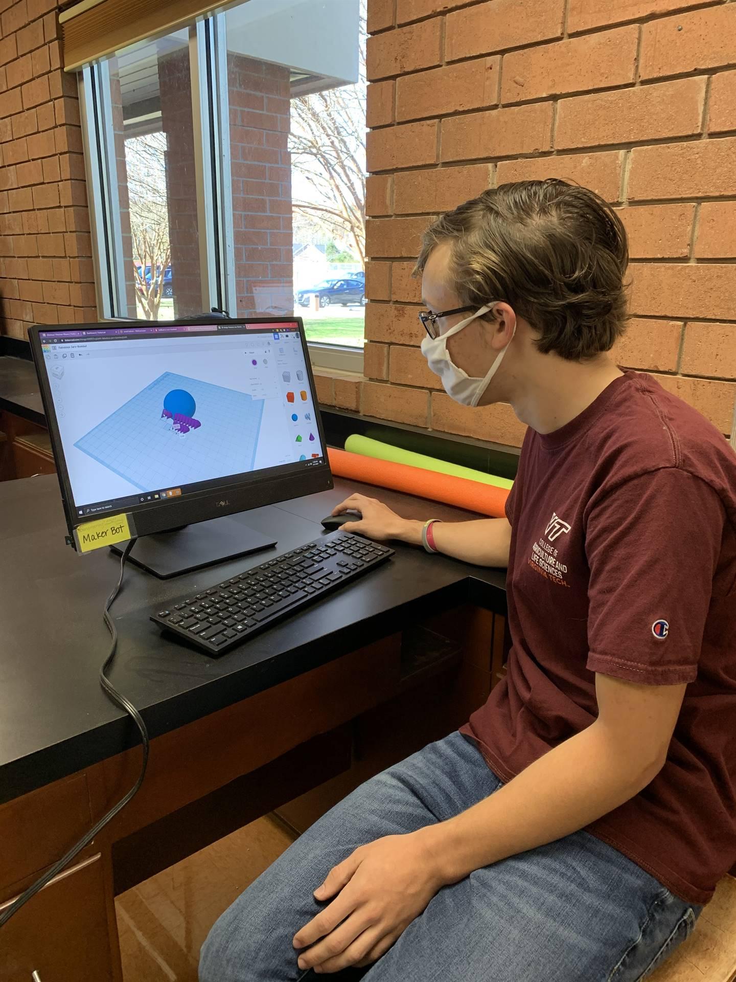 Student 3D designing