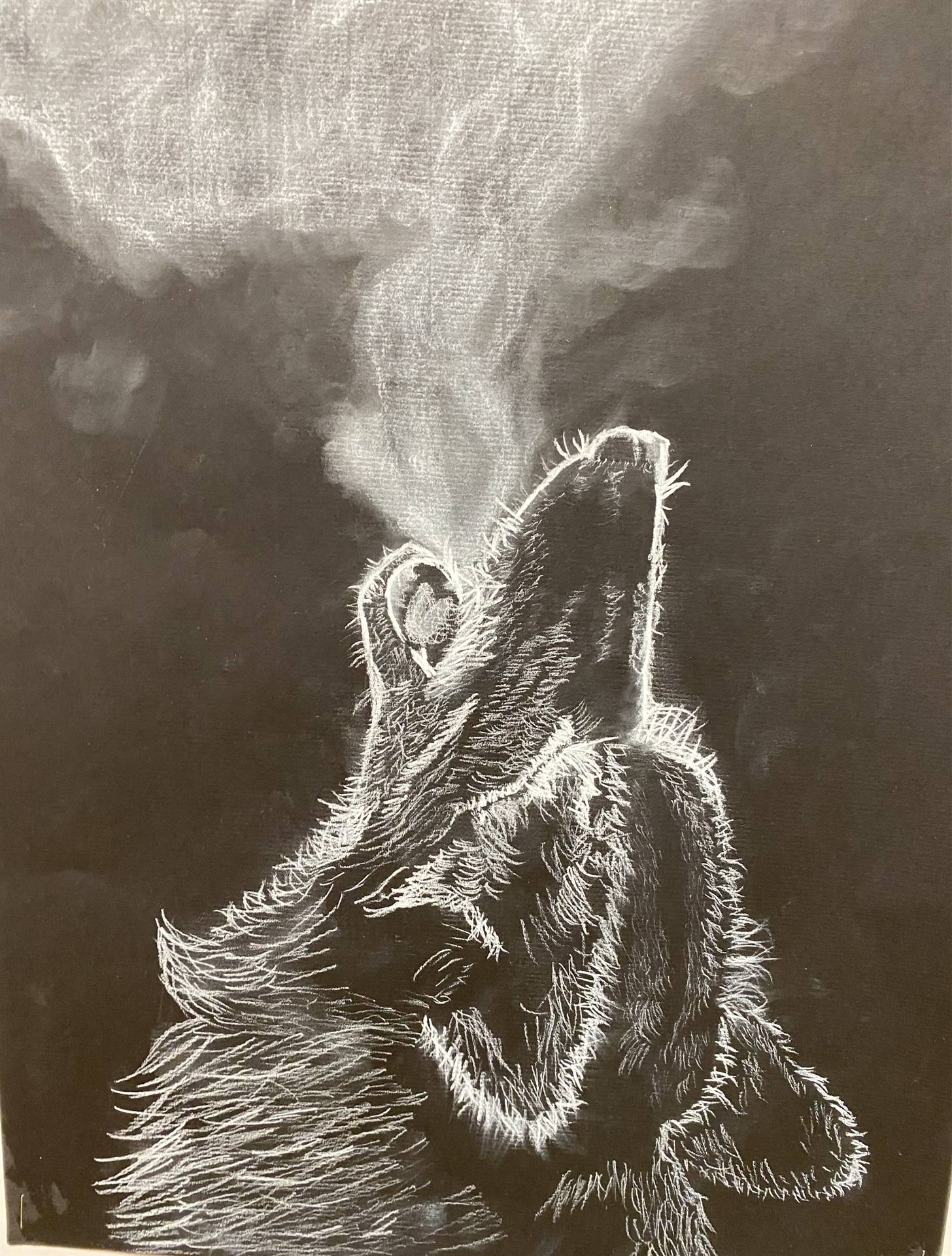 Wolf Chalk Drawing